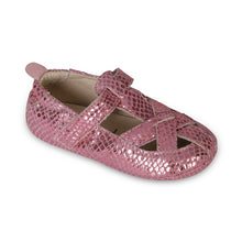 Load image into Gallery viewer, thread sandal pink snake - old soles