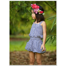 Load image into Gallery viewer, Poppy Girls Playsuit - Bluebelle by Emma Laue