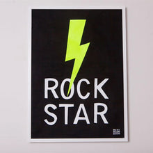 Load image into Gallery viewer, Rock Star Linen Print
