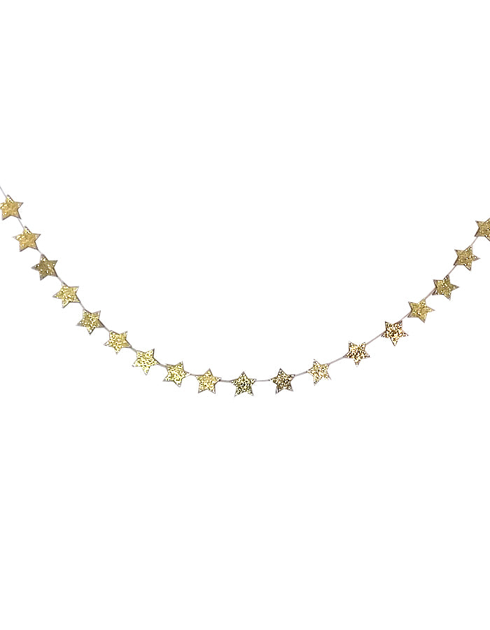Glitter Star Garland - Gold