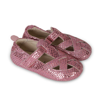 thread sandal pink snake - old soles