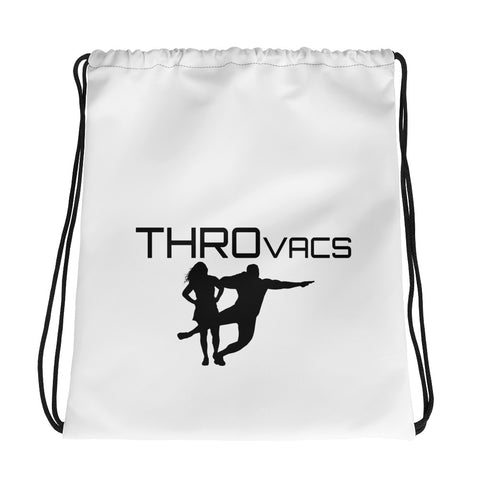 THROvacs Logo Drawstring bag