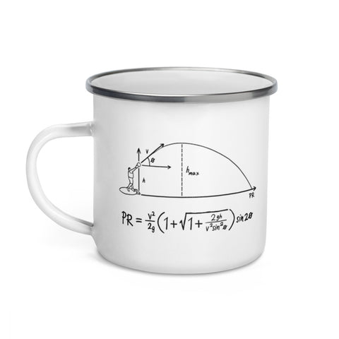 Projectile Equation - Enamel Mug