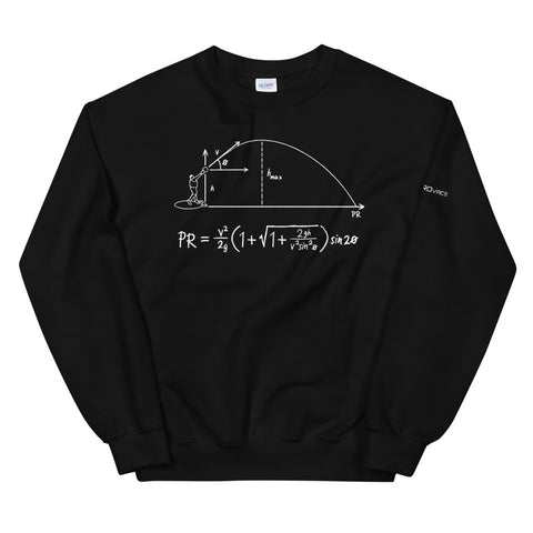 Projectile Equation Sweatshirt - White Ink