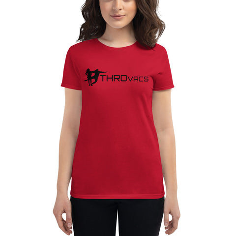 THROvacs Logo Women's T-shirt-  Black Ink