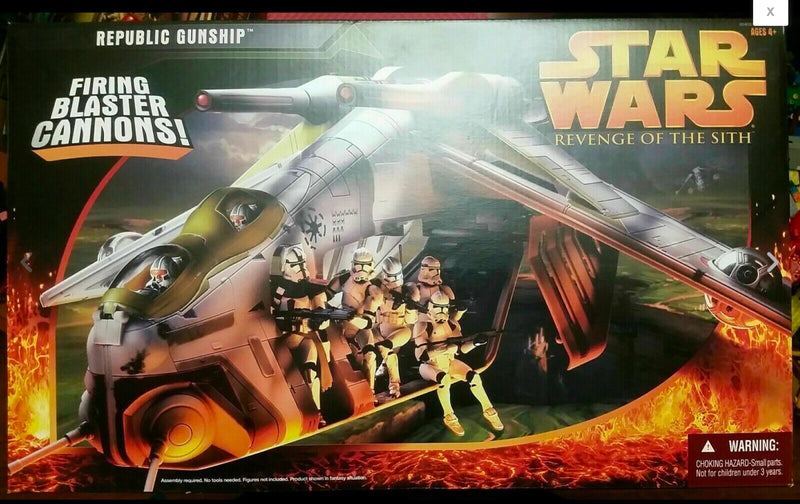 Republic Gunship Revenge of the Sith Perfect Condition Unopened freeshipping - Tier1Toys
