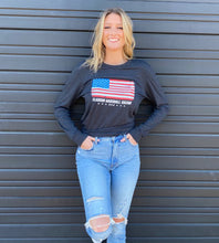 Load image into Gallery viewer, American Flag Long Sleeve T-Shirt