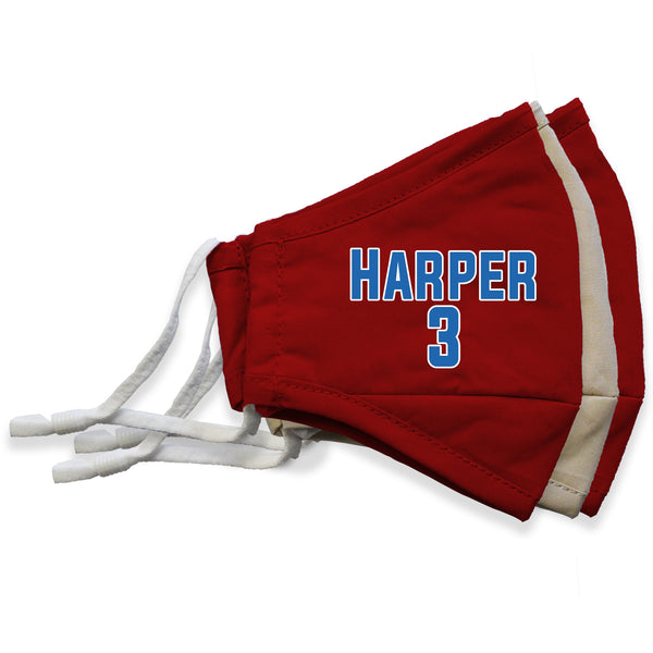Harper #3 Player Face Masks - 3 Pack