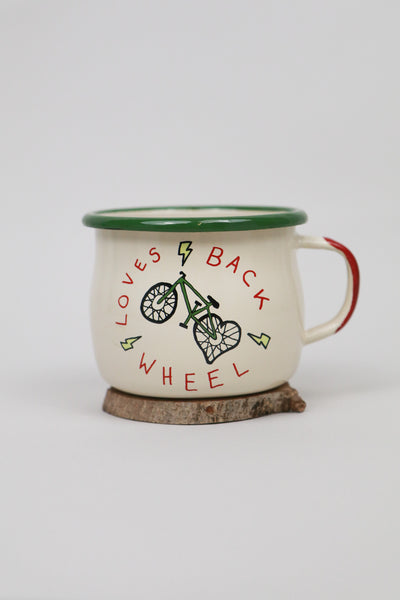 50to01 X Emalco - Loves Back Wheel enamel mug