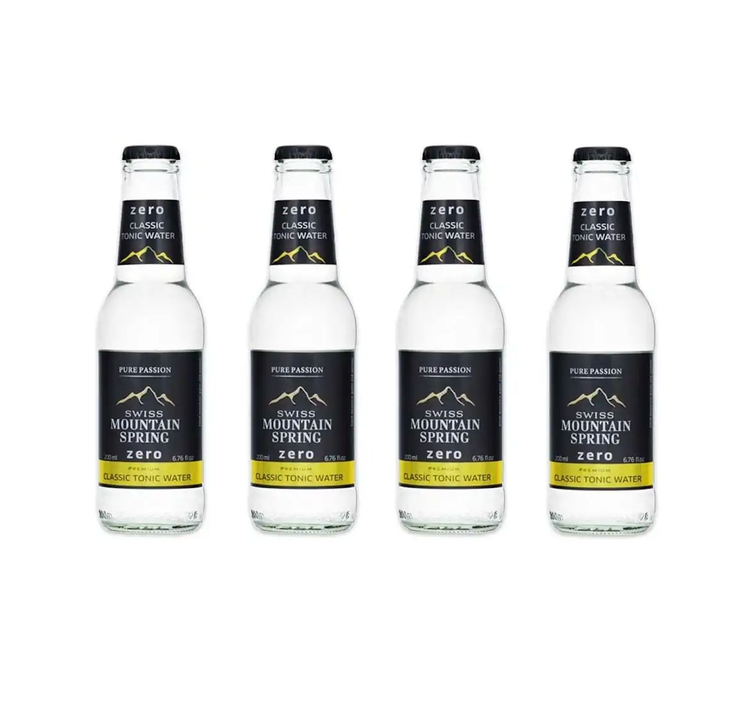 Swiss Mountain Spring Zero Tonic Water x4