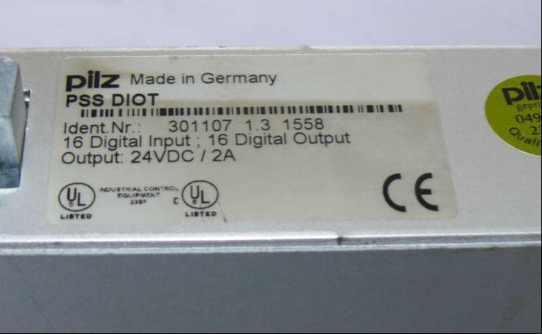 PILZ PSS DIO T 301107 Digital In-Output 24VDC / 2A