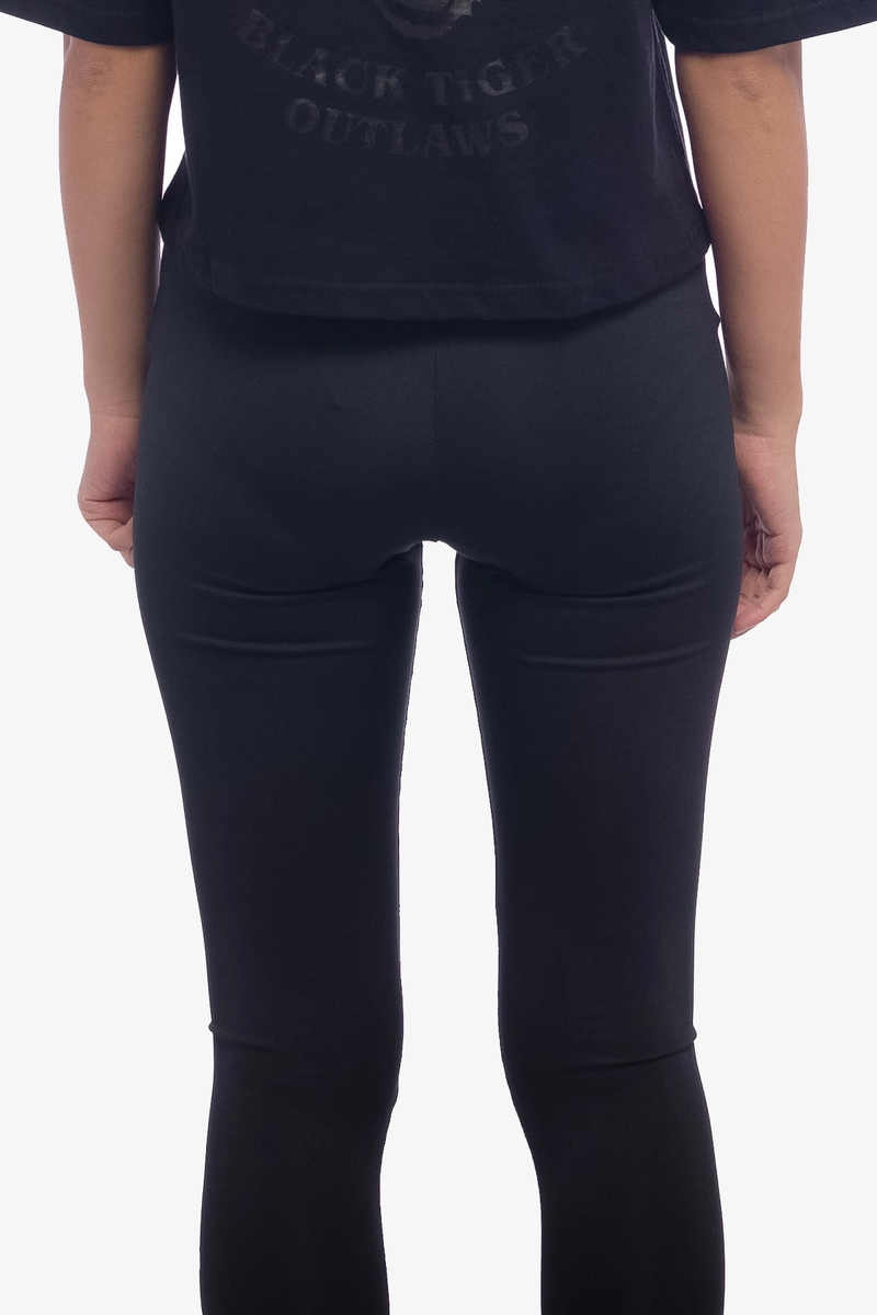 Mirrored Logo Leggings Black
