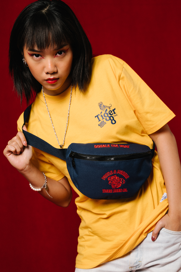 PMC x Tiger 88 Double The Huat Bum Bag Navy
