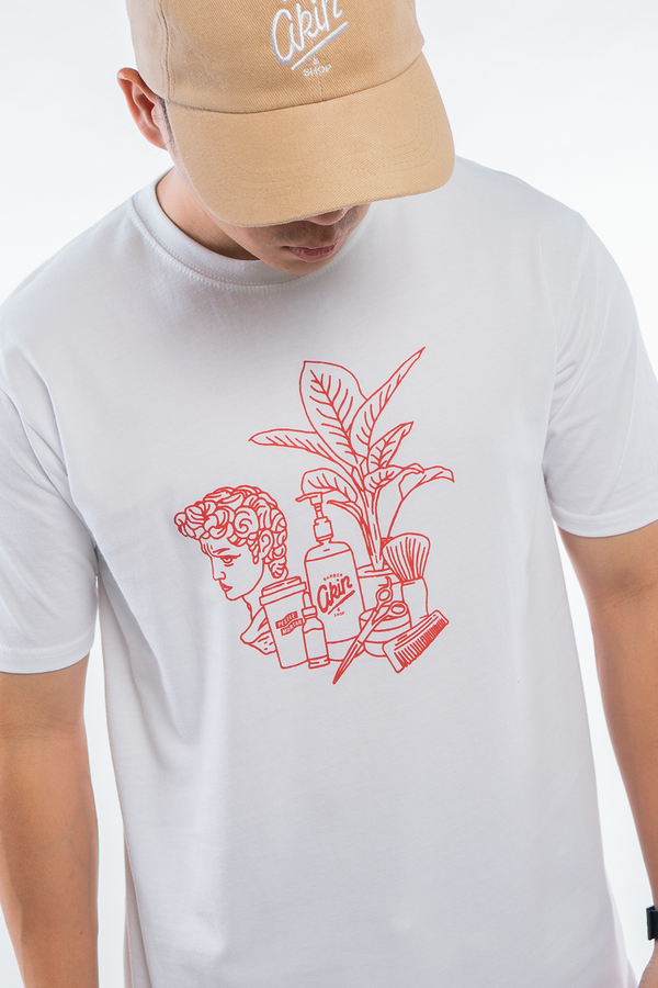 PMC x Akin Barber Lifestyle Tee White