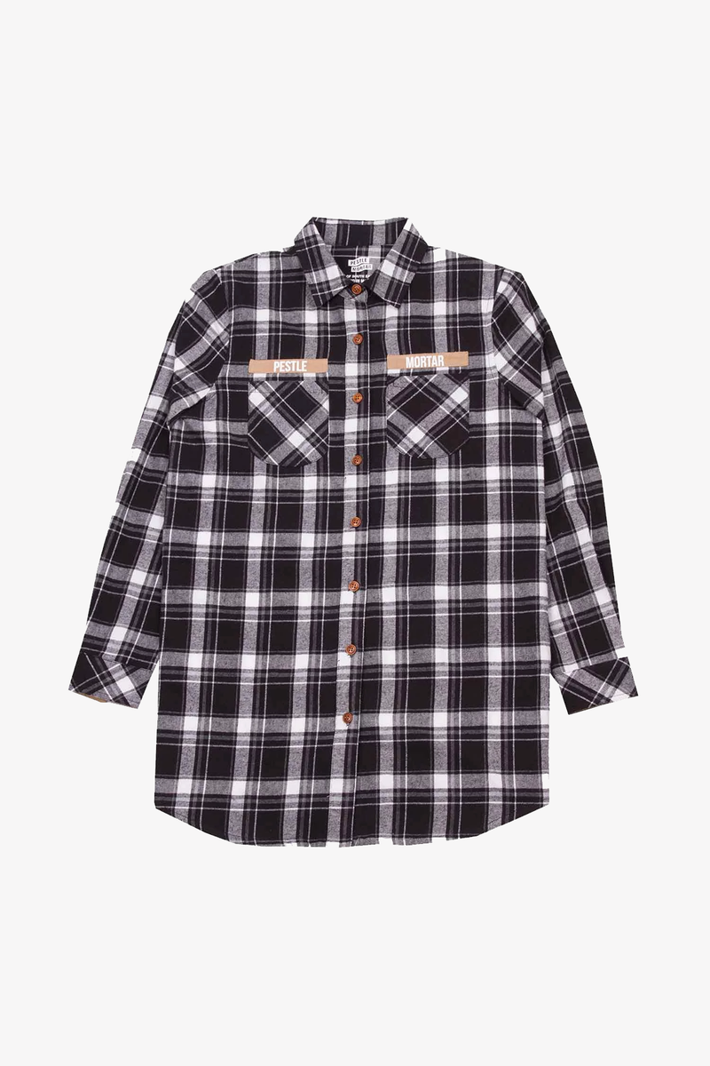 Foreman Ladies Flannel Shirt Black