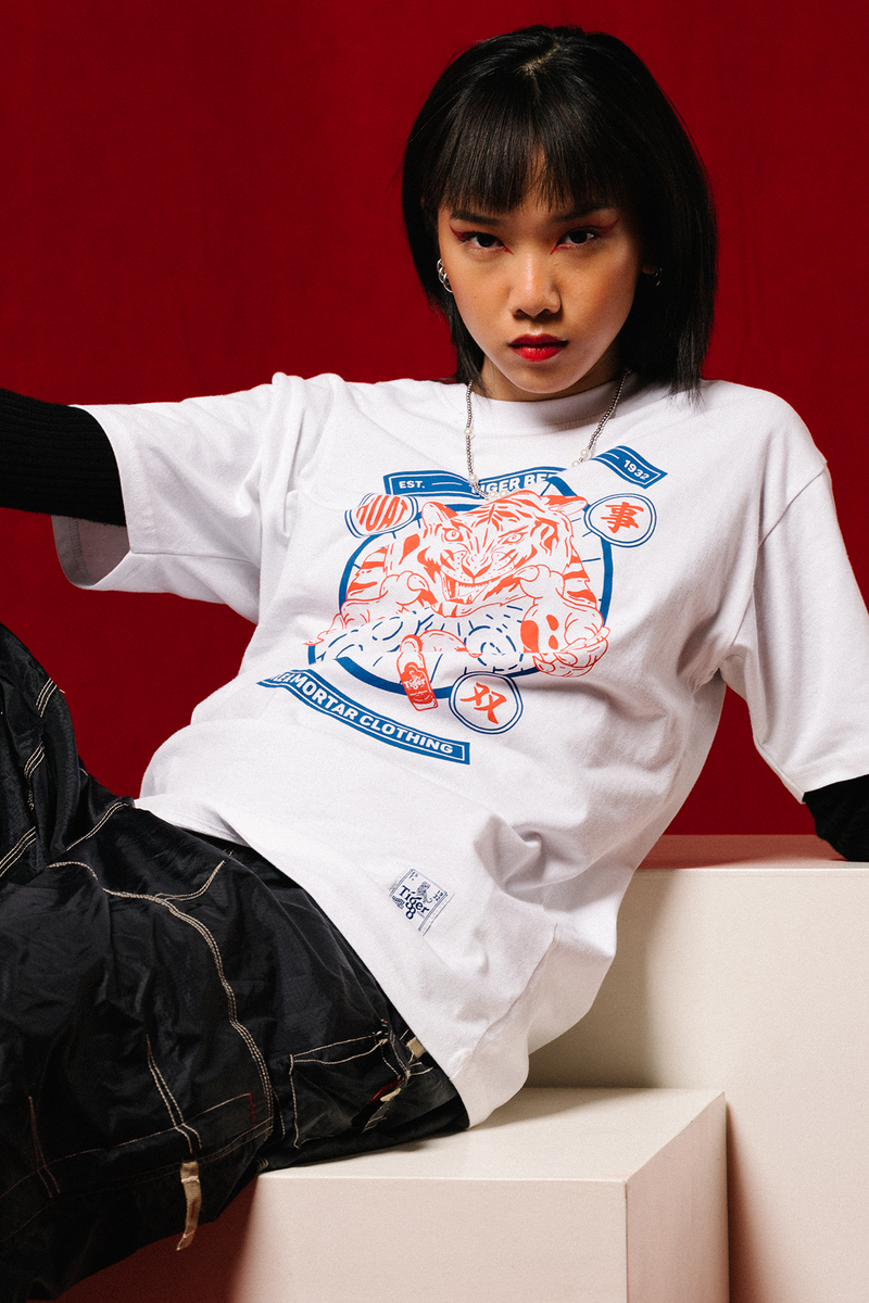 PMC x Tiger 88 Rat Tee White