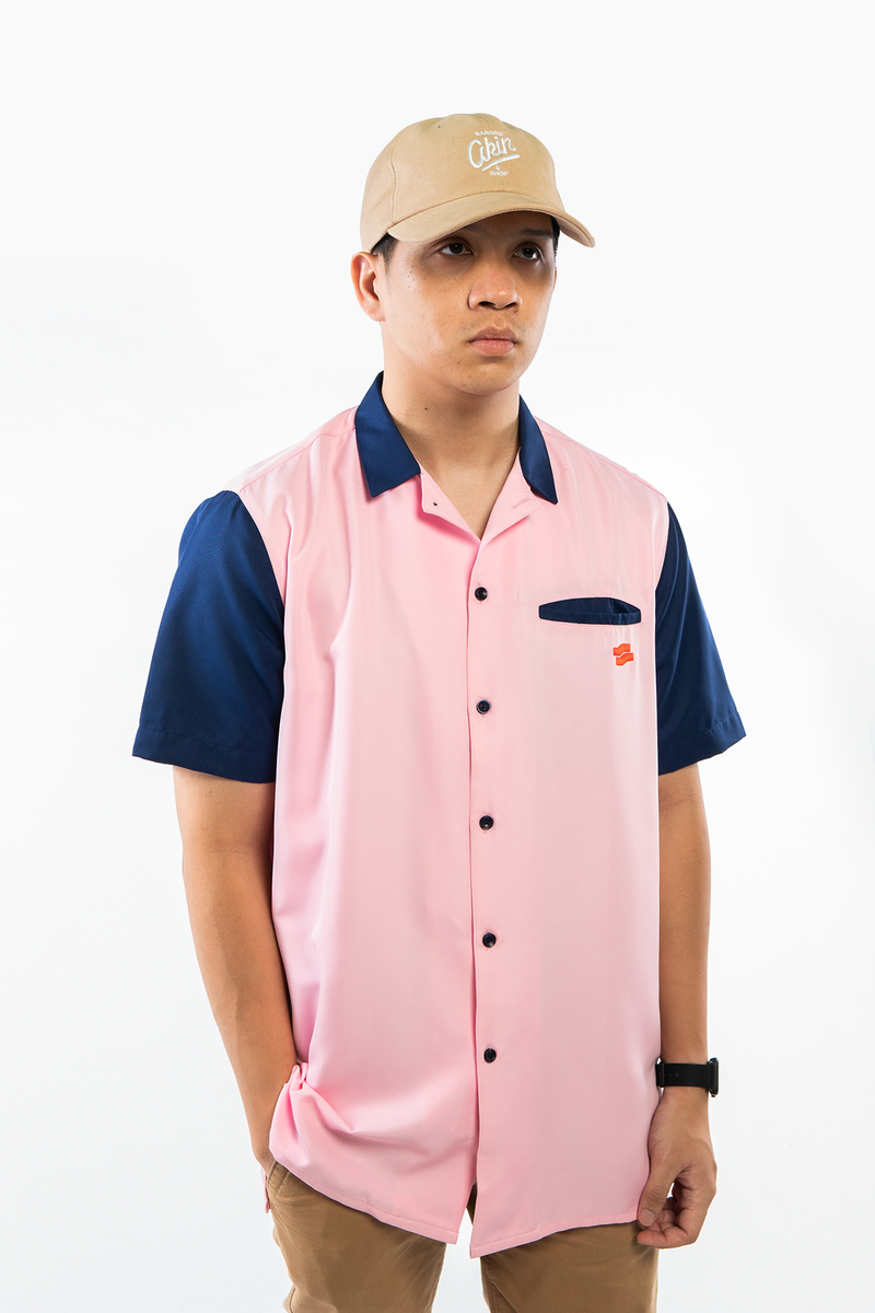 PMC x Akin Barber Dead Handsome Bowling Shirt Pink