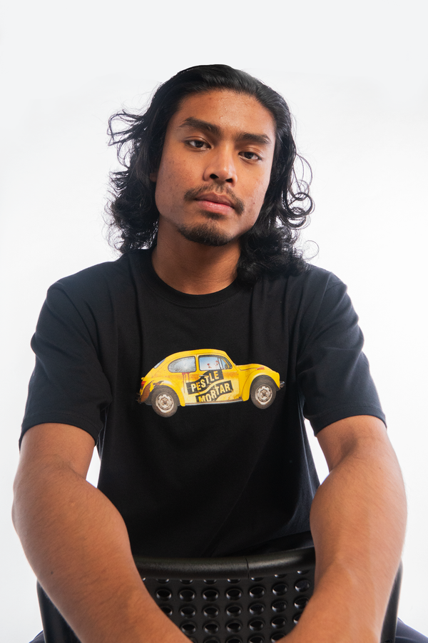Karak's Yellow Beetle Tee Black
