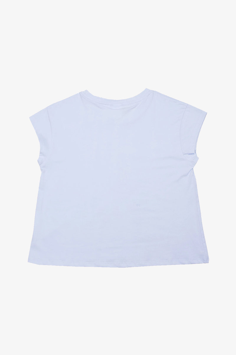 Pop Crop Tee Baby Blue
