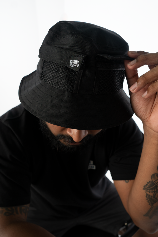 Strike Logo Pocket Bucket Hat Black