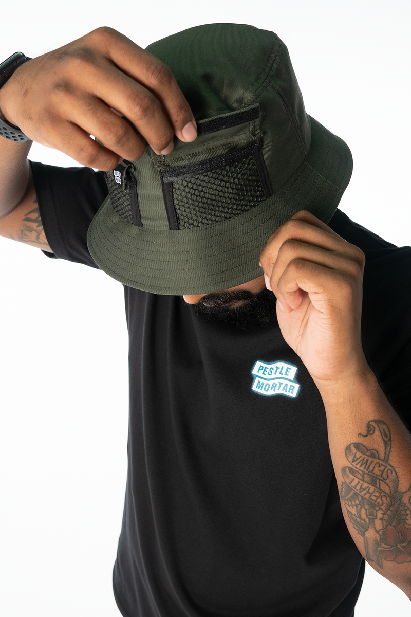 Strike Logo Pocket Bucket Hat Army Green