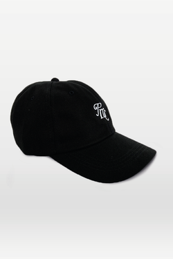Cursive Logo 6 Panel Cap Black