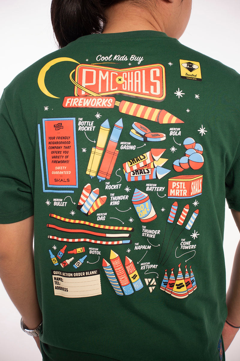 PMC x SHALS Fireworks Tee Forest Green