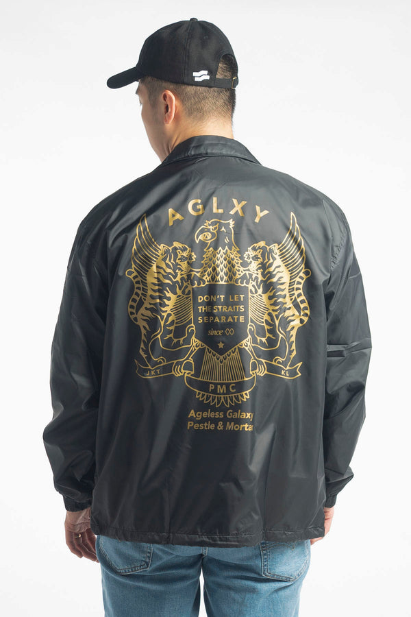 National Emblems Coaches Jacket Black