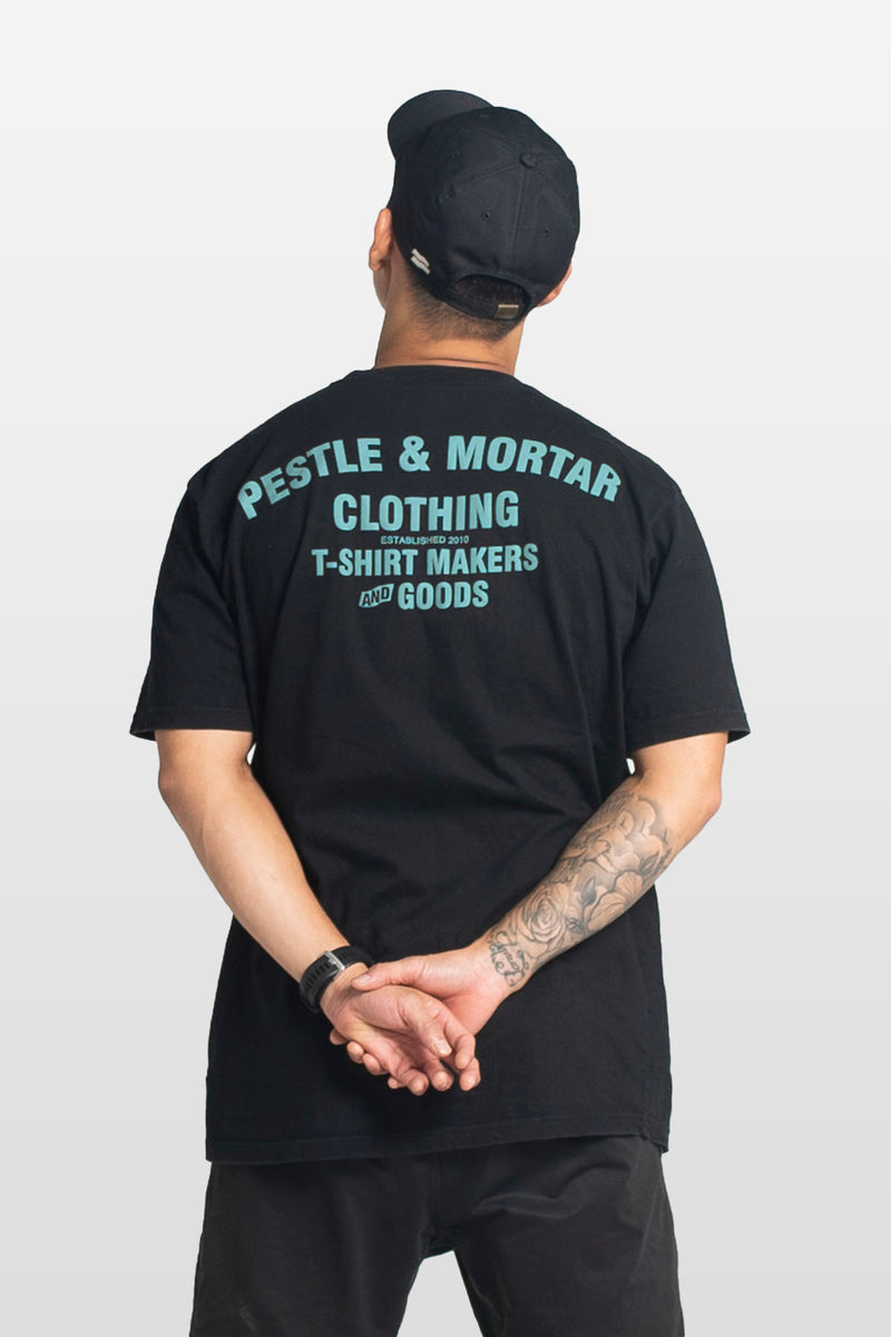 Flying Mechanic Tee Black / Pastel Blue