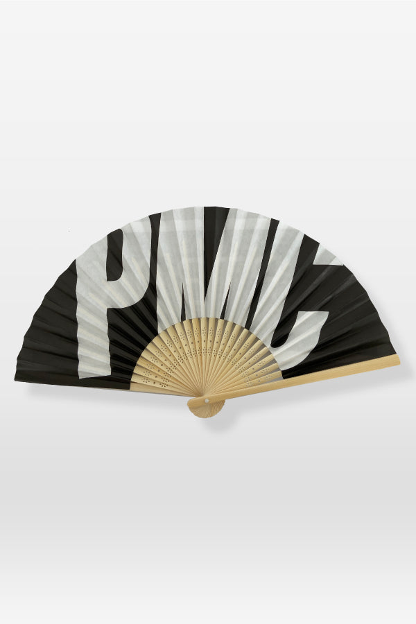 Artbox x PMC Grand Slam Logo Hand Fan Black