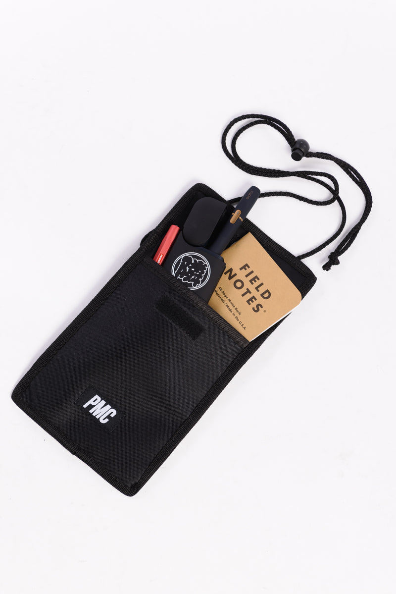 Strike Logo Neck Pouch Black