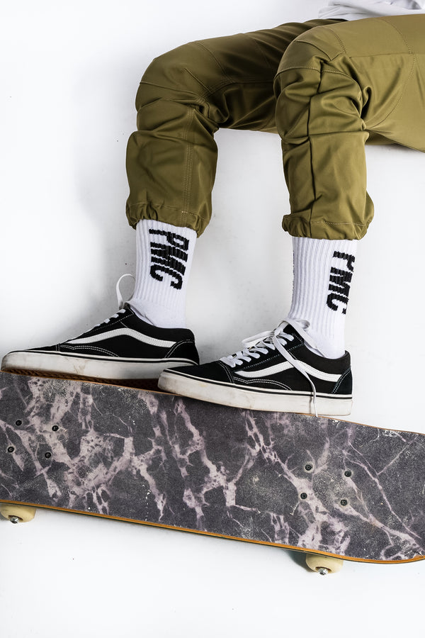 Strike Logo Socks White