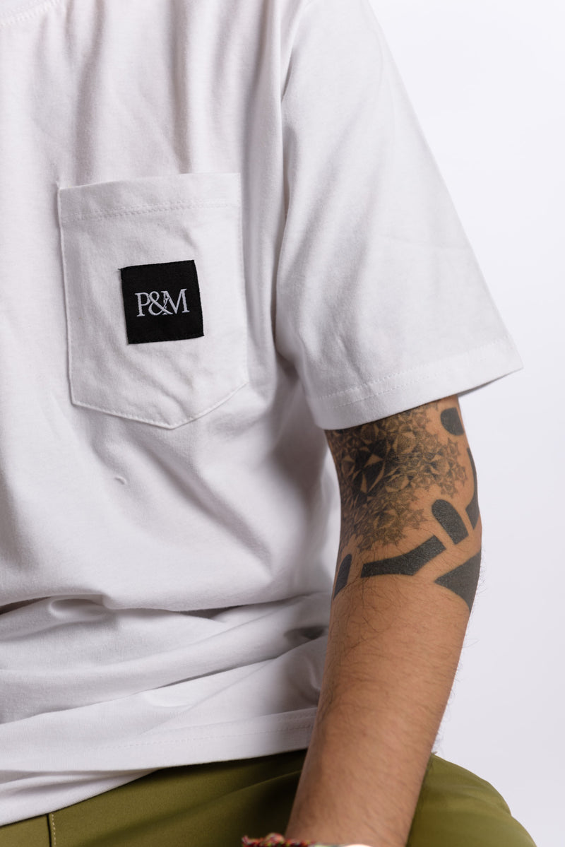 Logo Pocket Tee White