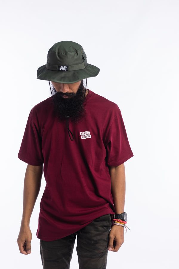 Flying Mechanic Tee Burgundy