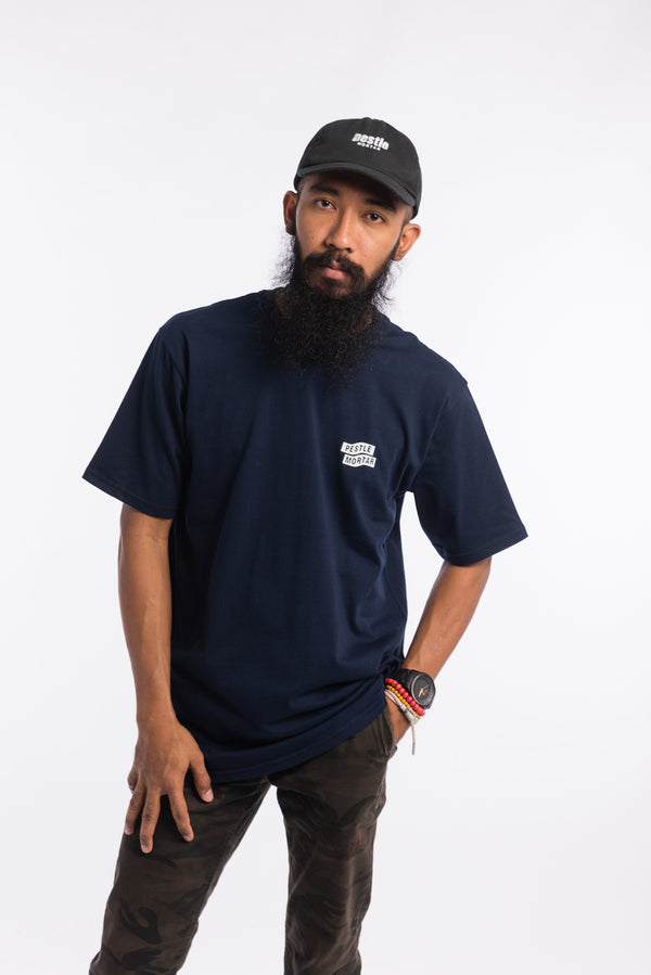 Flying Mechanic Tee Navy Blue