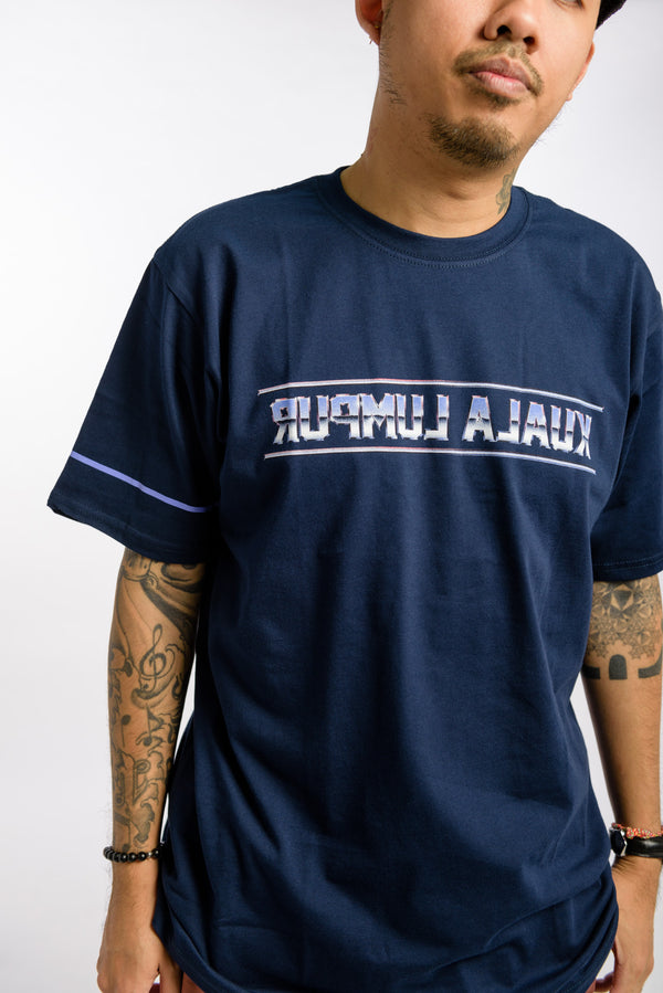 Chrome KL Reverse Tee Navy