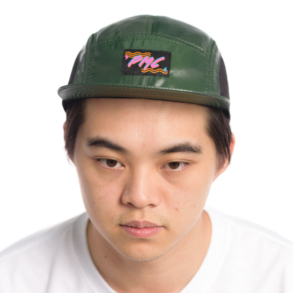 Mish-Mesh 5 Panel Cap Green (Store)