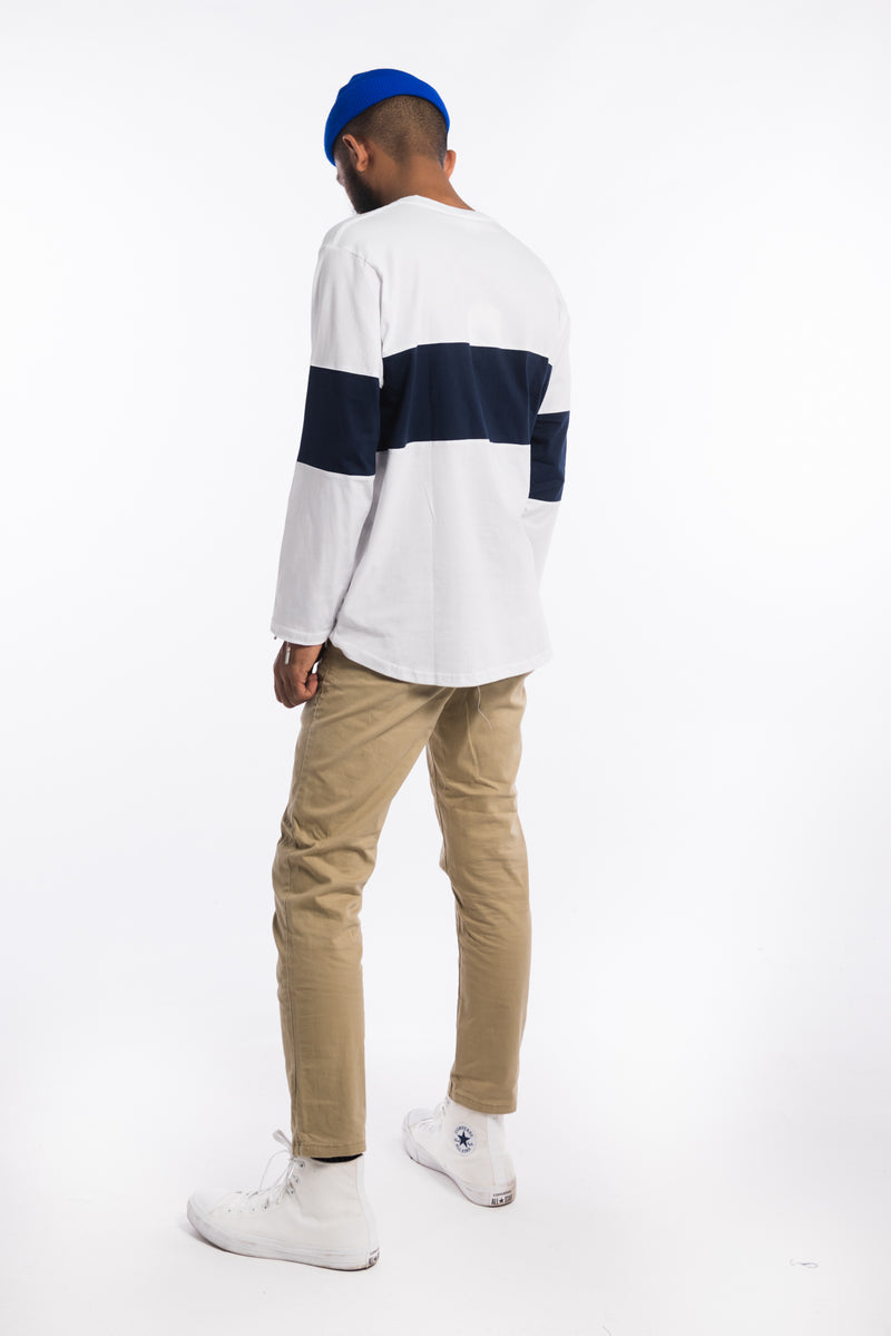 Legacy Long Sleeve Tee White/Blue