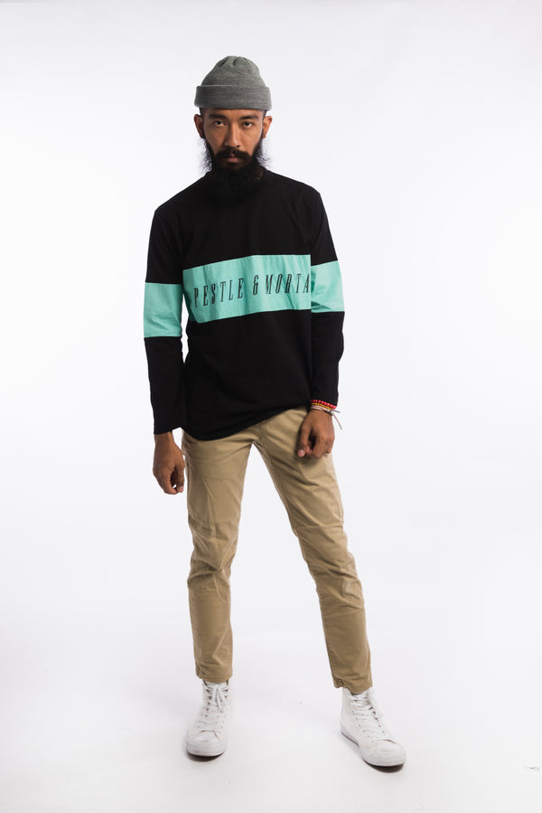 Legacy Long Sleeve Tee Black/Light Teal