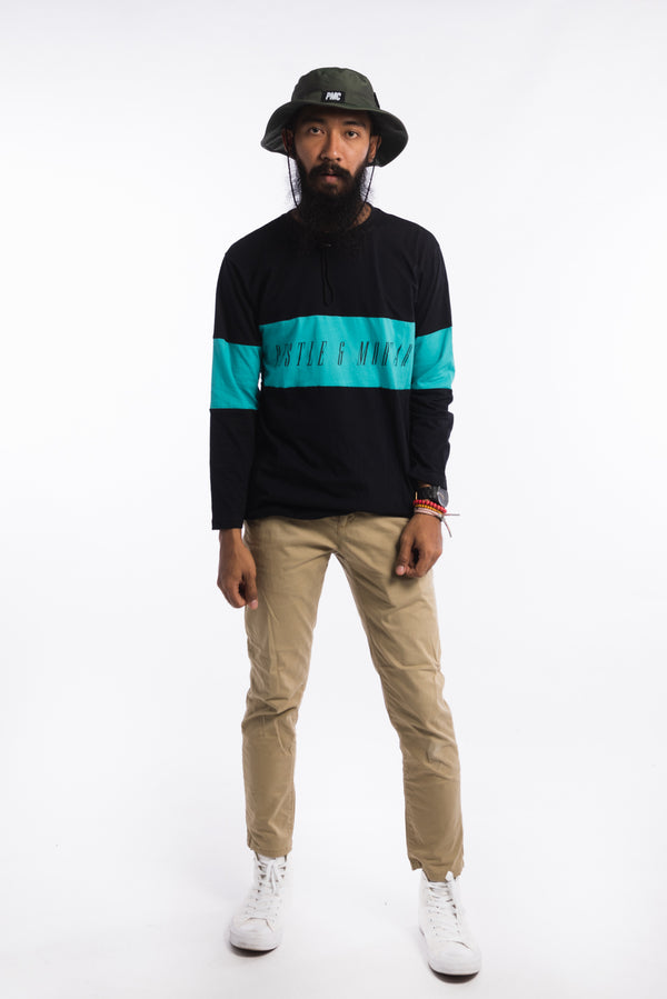 Legacy Long Sleeve Tee Black/Teal