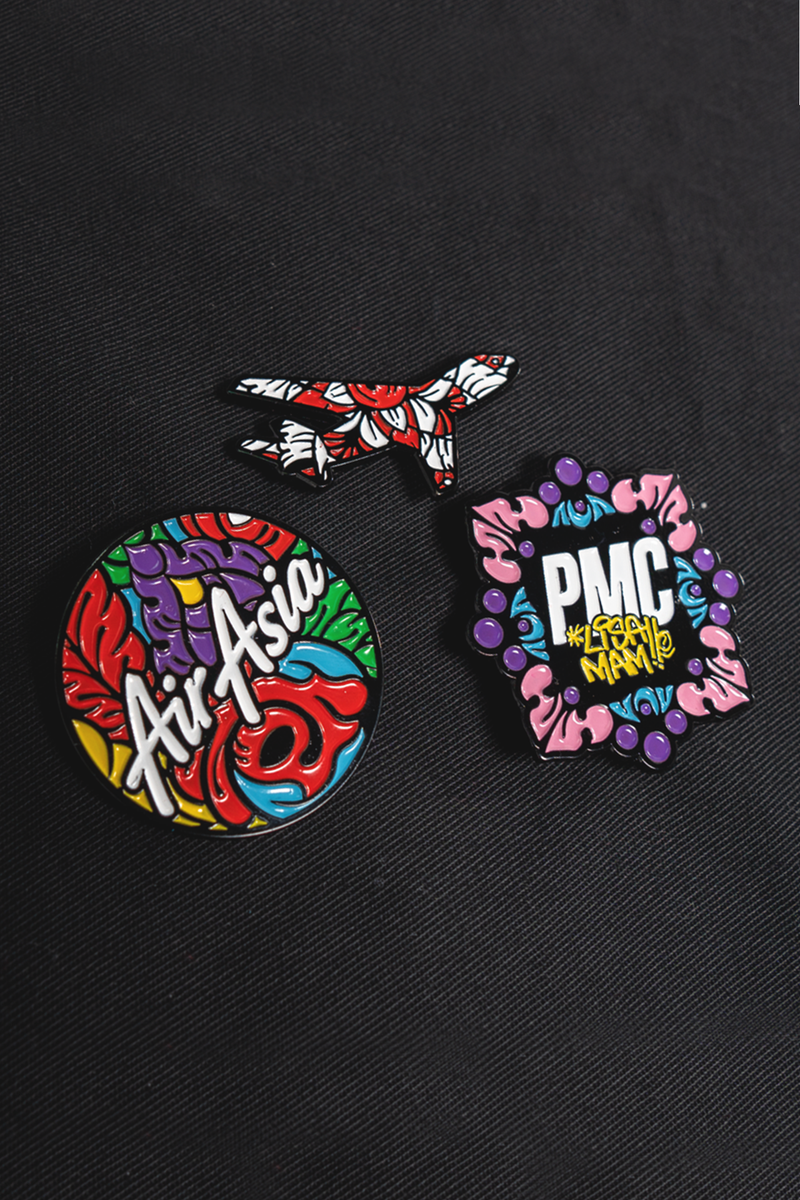 PMC x AirAsia Colours of S.E.A. 3-Pin Set