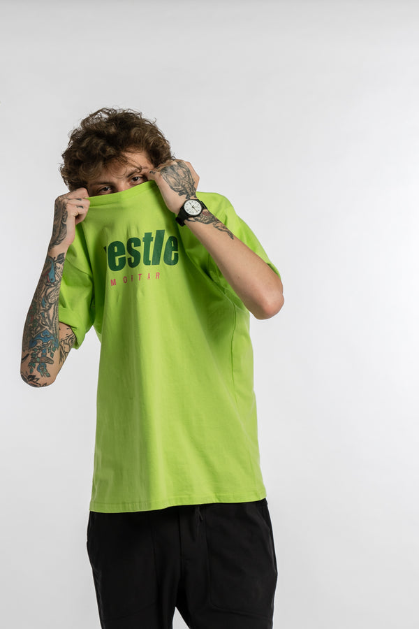 Grand Slam Logo Tee Acid Lime