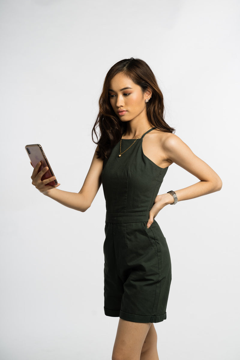 National Service Jumpsuit Forest Green