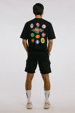 Fruit Stickers Tee Black