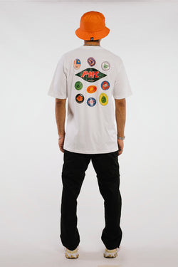 Fruit Stickers Tee White