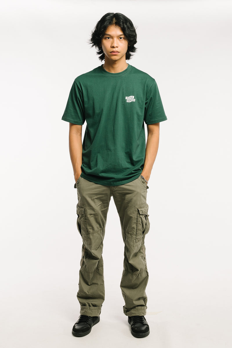 Flying Mechanic Tee Forest Green