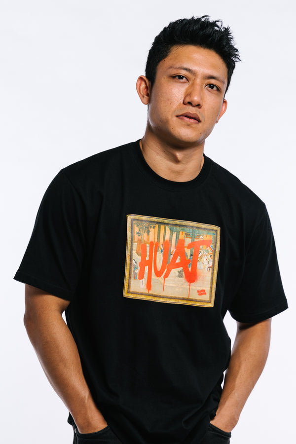 Huat The F**k Tee Black