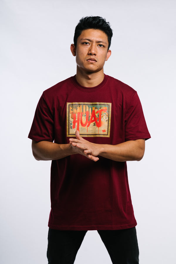 Huat The F**k Tee Burgundy
