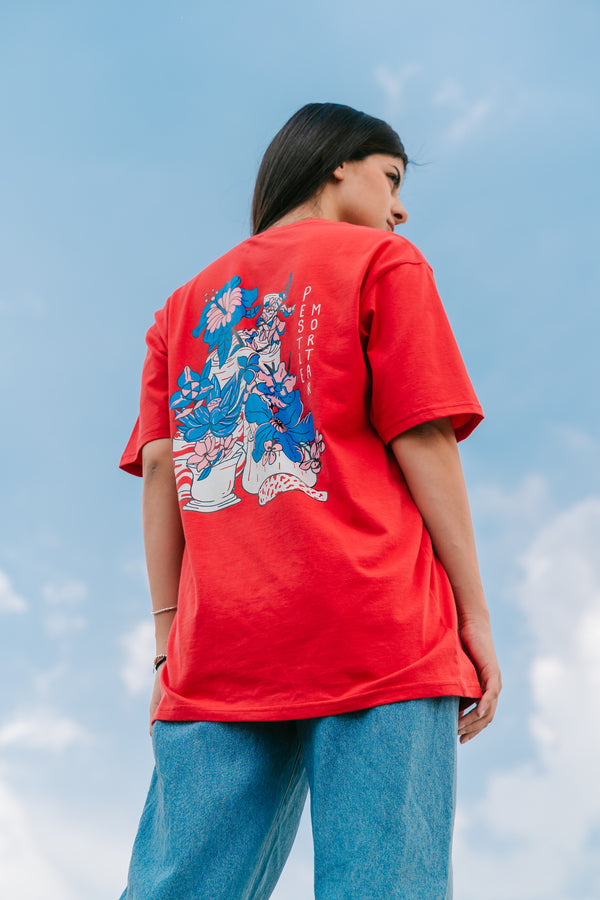 PMC x AirAsia Flowers of S.E.A. Tee Red