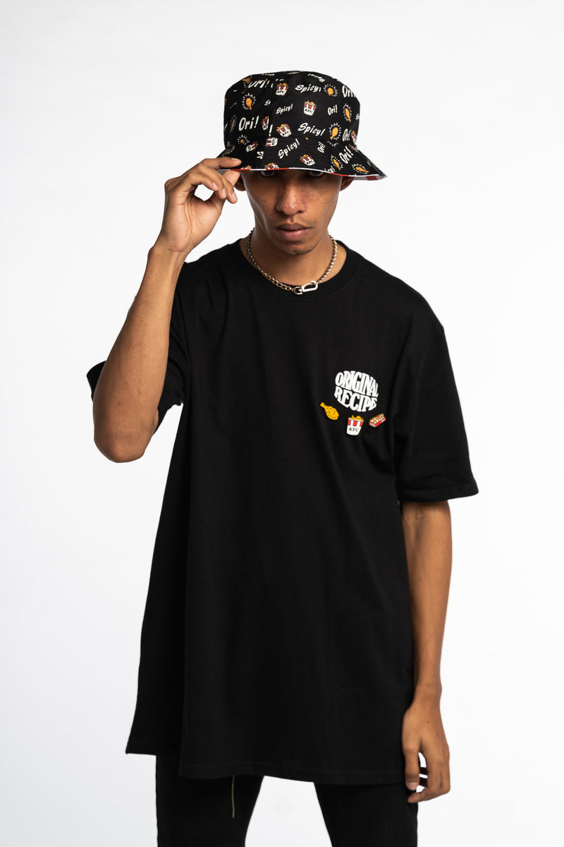 O.R. Reversible Bucket Hat Black/Red